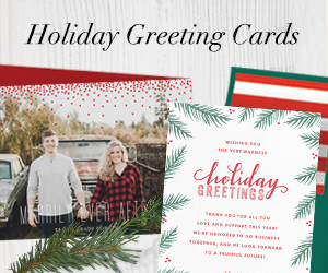 Holiday greetings melissa egan design greenvelope business thank you notes real estate reheart Image collections